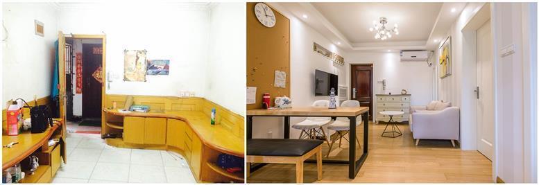 武汉80平米两室一厅老房装修,旧房翻新改造案例