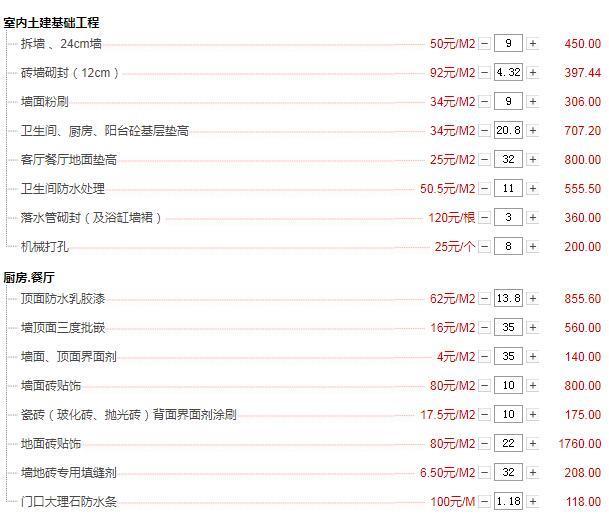 重庆120平米全包装修10万装修费用清单