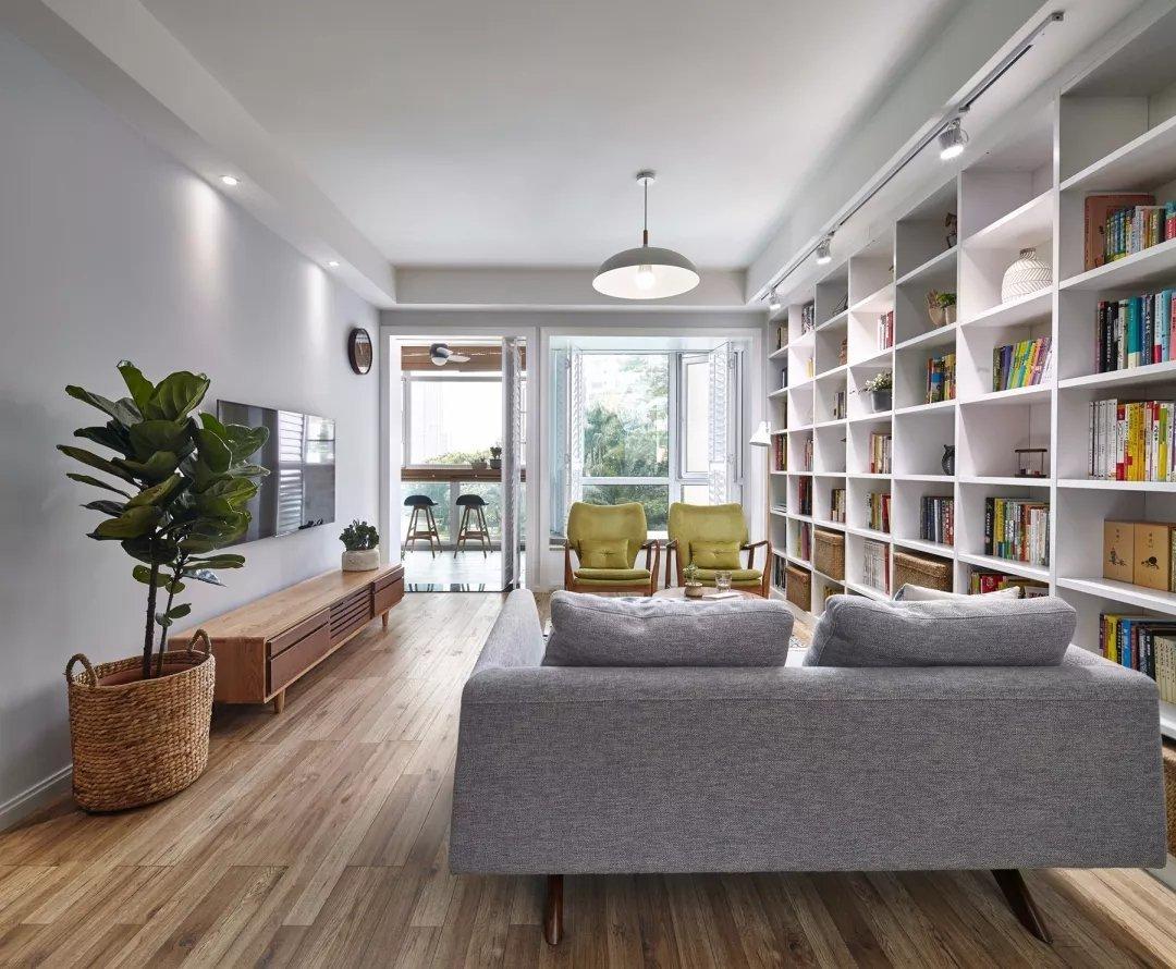 南京北欧风格110平三居室装修案例