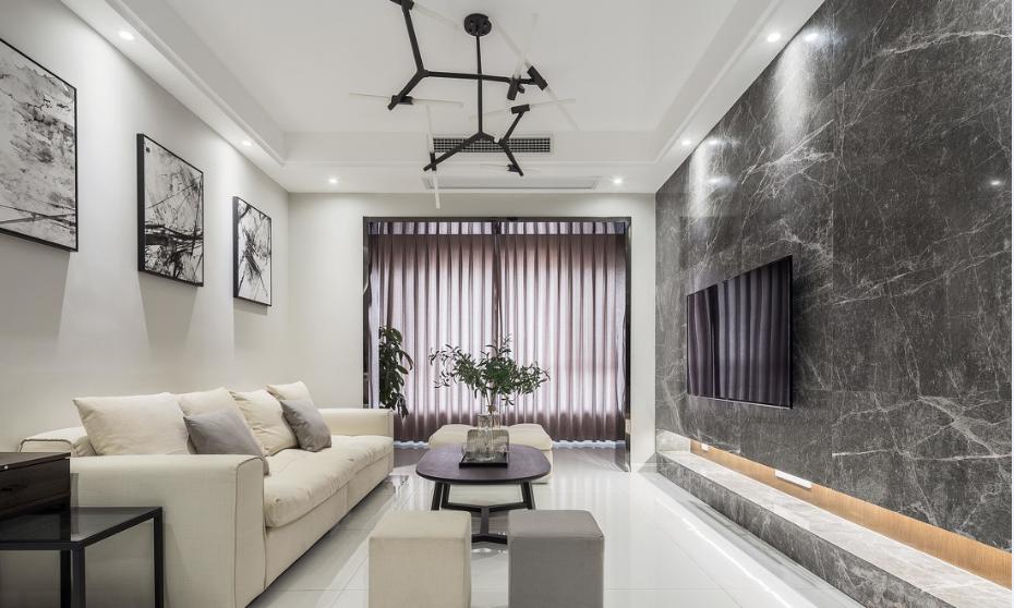 南京現代簡約90平三居室裝修案例