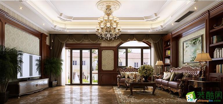 宿州一木装饰-300平美式复古别墅装修效果图