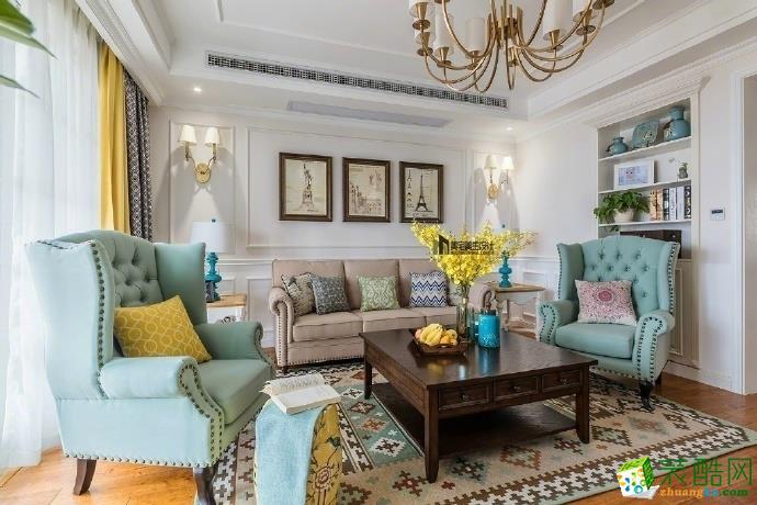 約克郡145平米美式風格四室兩廳裝修實景案例圖--綠色家裝飾
