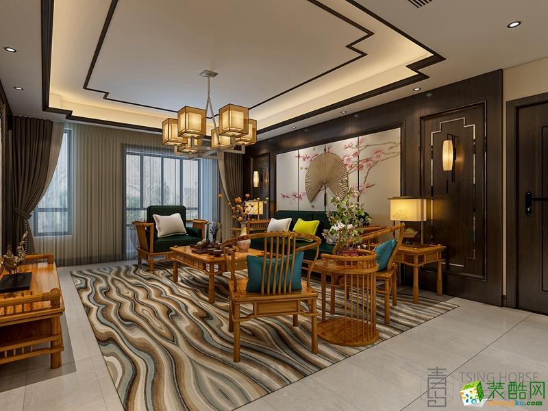 【青马案例】首创满香郡240平米现代中式风格装修案例