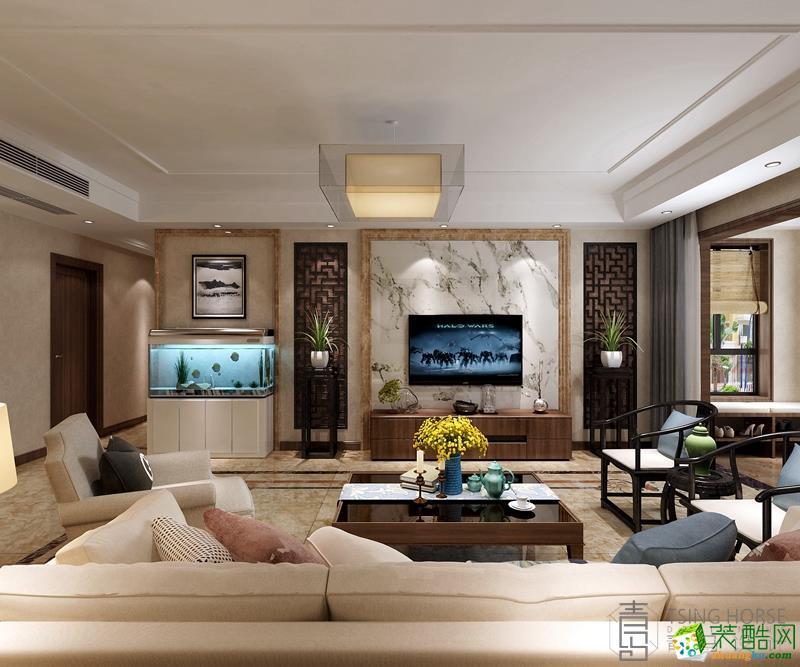 【青马案例】枫林九溪220平米新中式风格装修案例