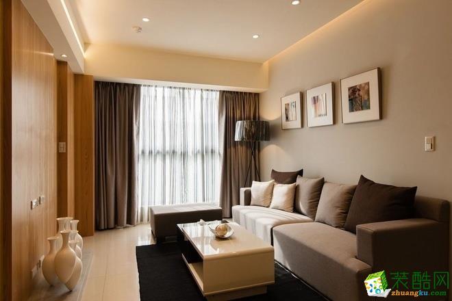 现代简约风格59平米两室两厅装修实景案例图--齐家典尚装饰