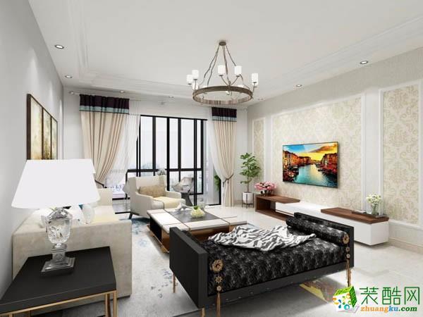 139平米现代简约风格三居室装修实景案例图--宅速美装饰