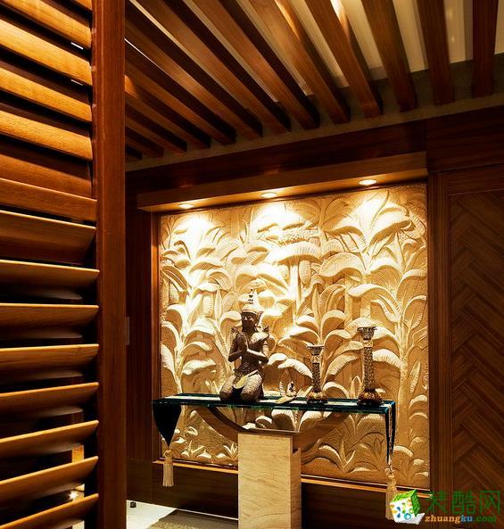 客厅 扬州同舟嘉艺装饰-东南亚别墅装修效果图