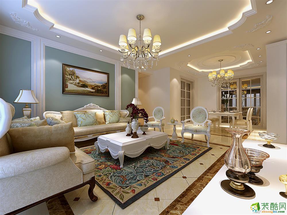 >> 混搭風格108平米三室兩廳裝修實景案例圖--祥和裝飾