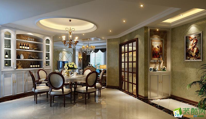 现代欧式风格80平米三室一厅装修实景案例--饰家天下