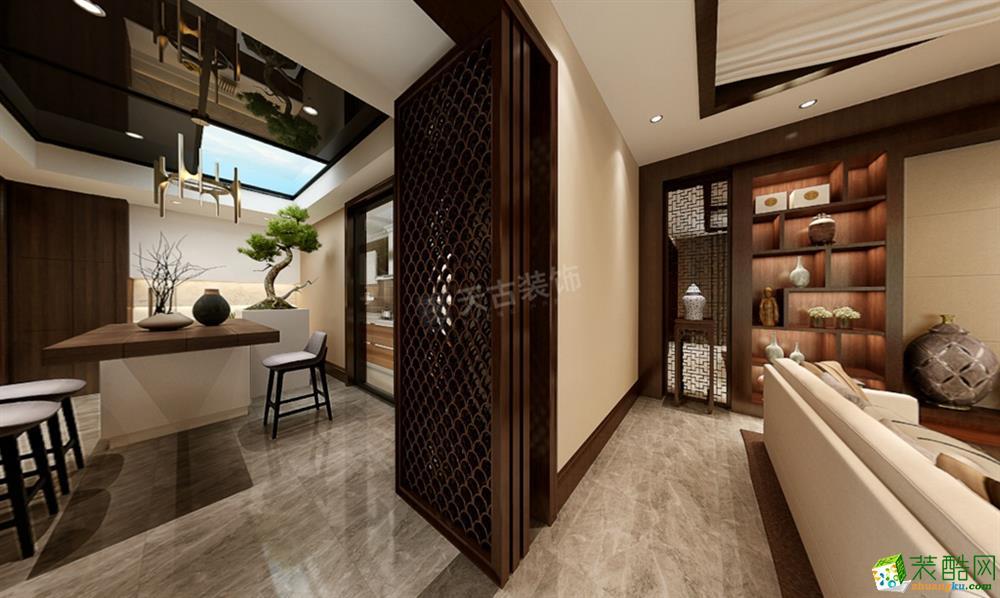 高屋林语堂四合院别墅480平米中式风格装修效果图--天