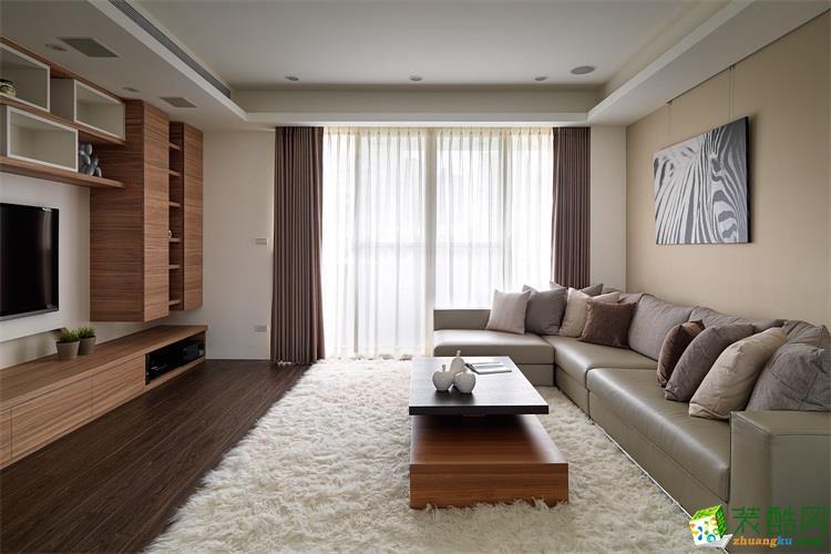 北欧风格95平米三室一厅装修实景案例图--华绘装饰