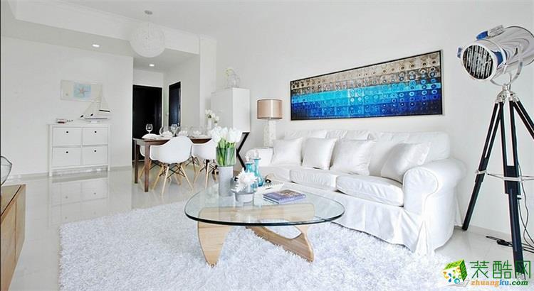 63平米北欧风格两室两厅装修实景案例图--云上装饰