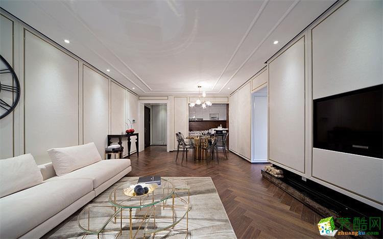 95平米三室两厅北欧风格装修效果图--云上装饰