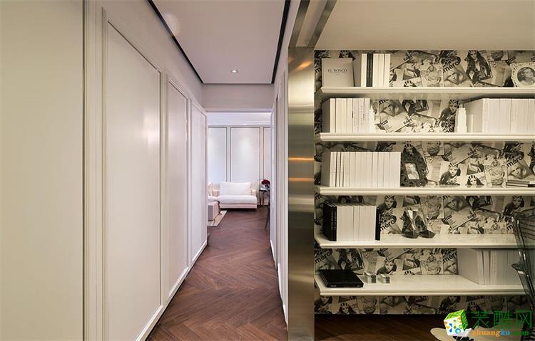 过道吊顶 95平米三室两厅北欧风格装修效果图赏析--云上装饰 95平米图片
