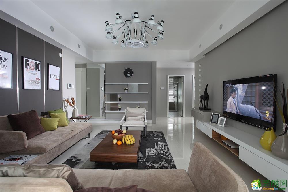 现代简约风格176平米四室两厅装修效果图--华浔品味装饰