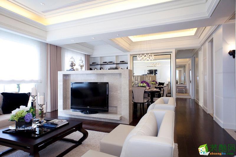 现代简约风格88平米两室两厅装修效果图--交换空间装饰