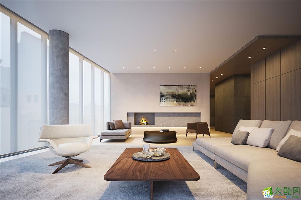 现代简约风格77平米两室两厅装修实景案例图--品匠装饰