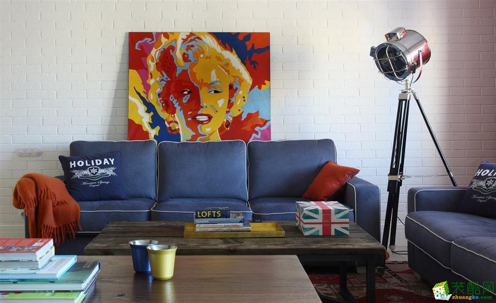 81平米混搭风格两室两厅装修实景案例图--品匠装饰