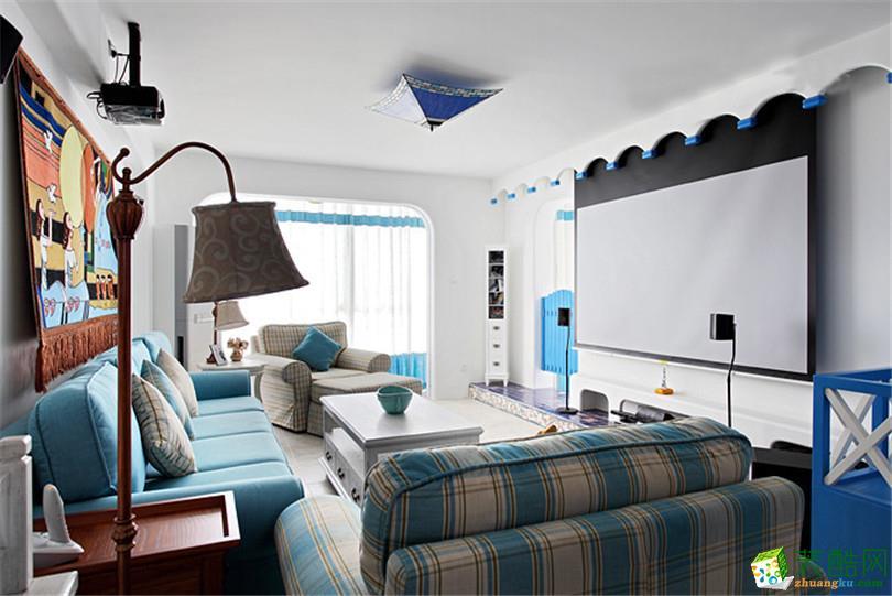92平米现代简约风格三室两厅装修效果图--宅速美装饰