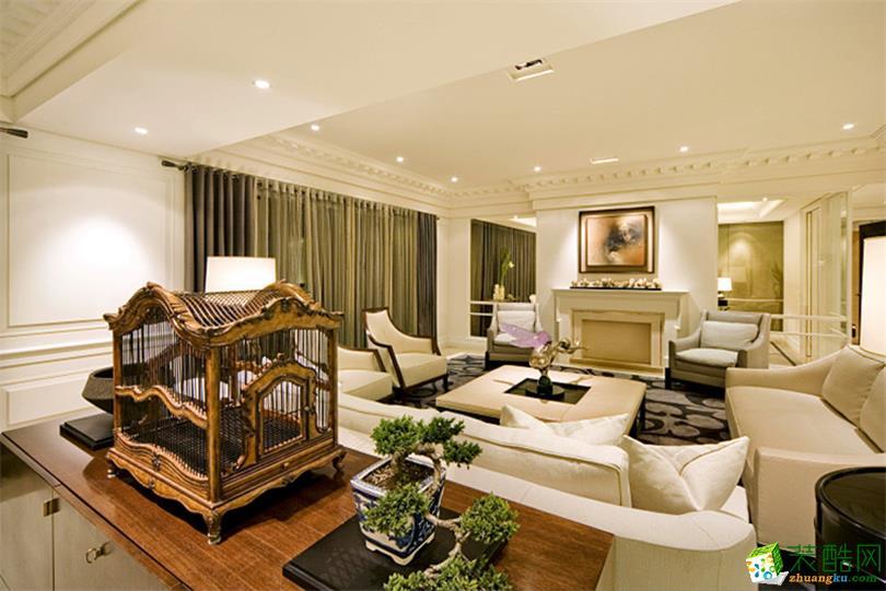 132平米简欧风格三室两厅装修实景案例--宅速美装饰