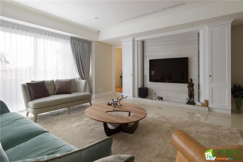 北欧风格118平米三室两厅装修效果图--超越装饰