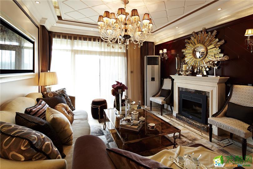 简欧风格89平米三室两厅装修实景案例图--鸿盛装饰