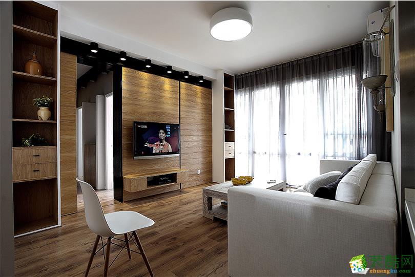 120平米北欧风格三室两厅装修效果图--鸿盛装饰