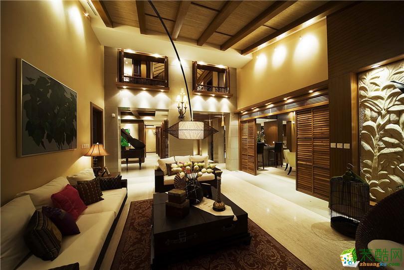 东南亚风格160平米别墅住宅装修效果图--名匠装饰