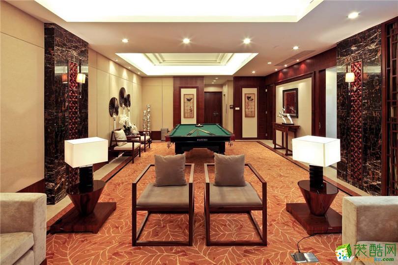 180平米新中式风格别墅住宅装修实景案例图--名匠装饰