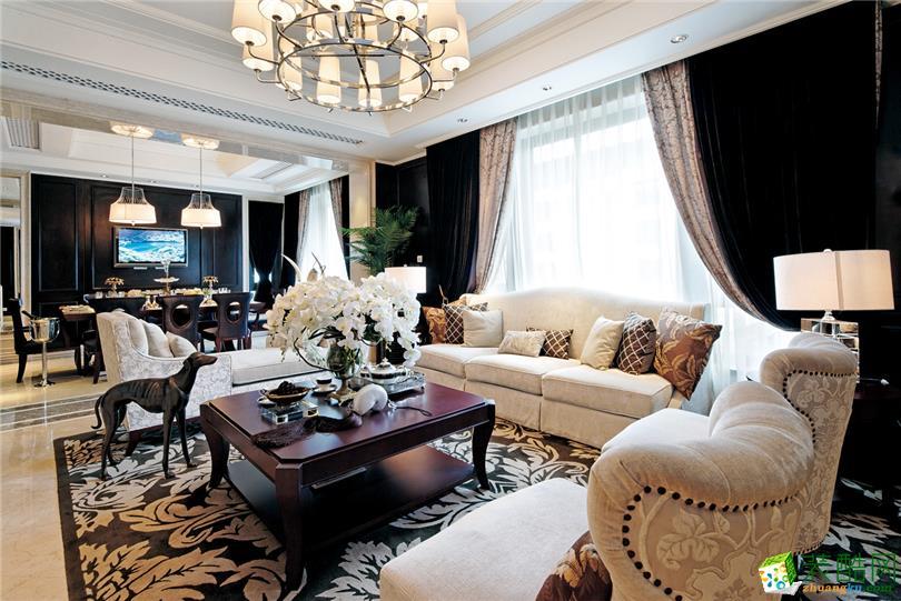 简欧风格106平米三室两厅装修效果图--名匠装饰