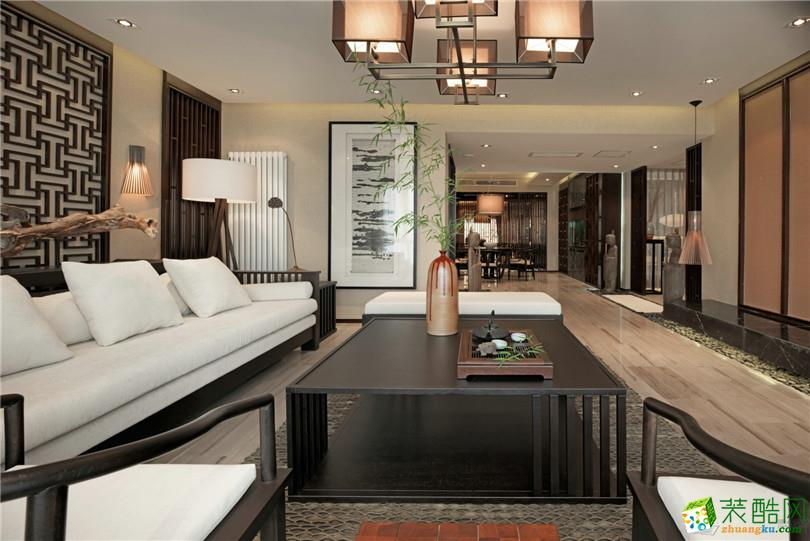 东南亚风格90平米三室两厅装修实景案例图--名匠装饰