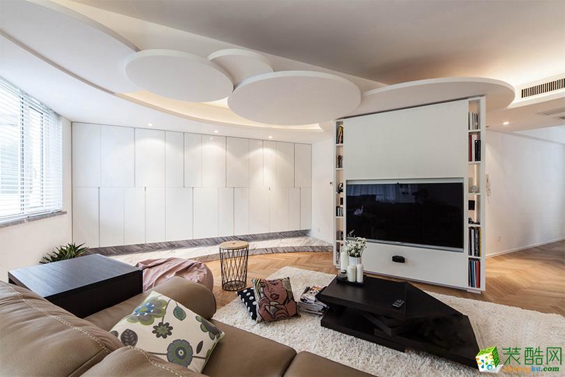 北欧风格132平米三室两厅装修实景案例图--喜匠装饰