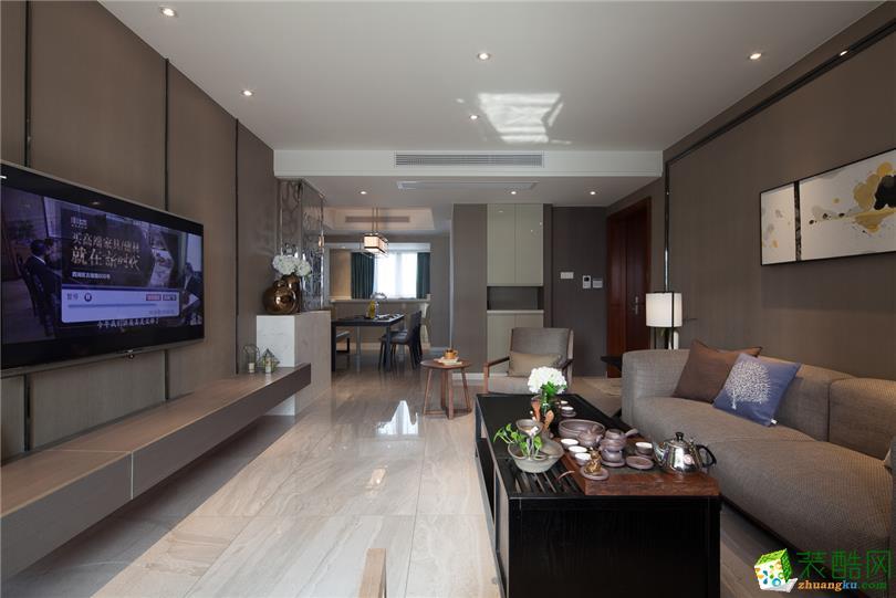 北欧风格108平米三室两厅装修实景案例图--靓家居装饰