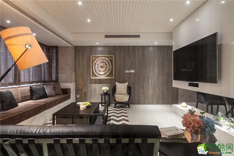 110平米北欧风格三室两厅装修实景案例图--靓家居装饰