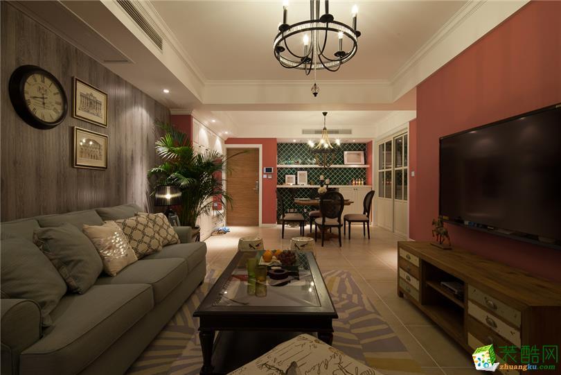 北欧风格113平米三室两厅装修实景案例图--靓家居装饰