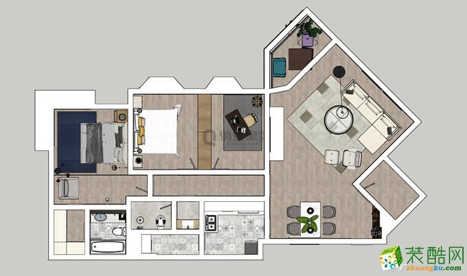 俏业家|皇冠东和花园三室|港式风格140平米装修效果图赏析。