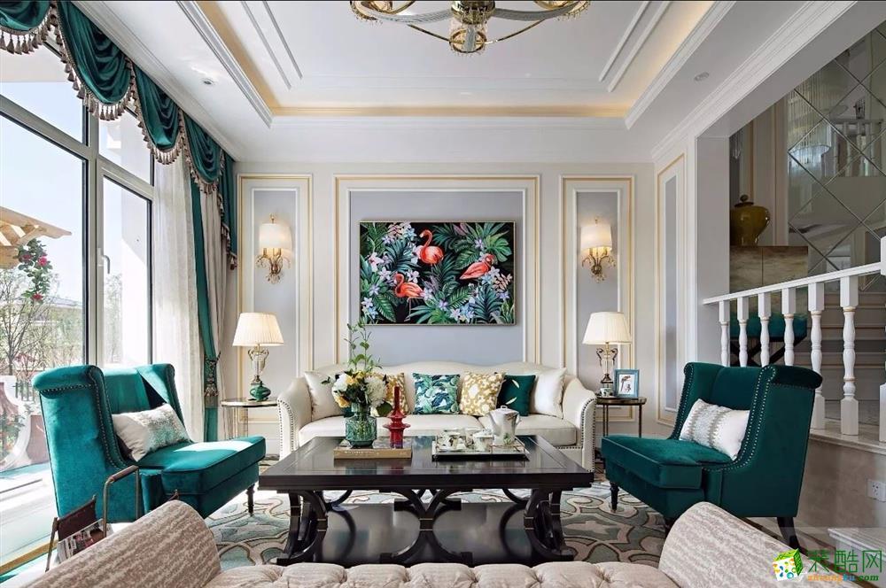 【天地和装饰】美式风格五居装修效果图