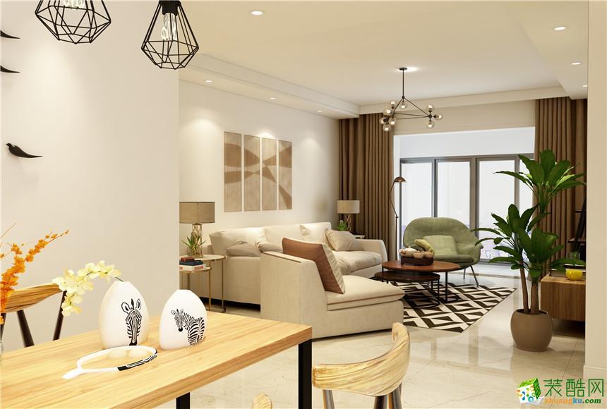 长沙饰天装饰-现代简约两居室装修效果图