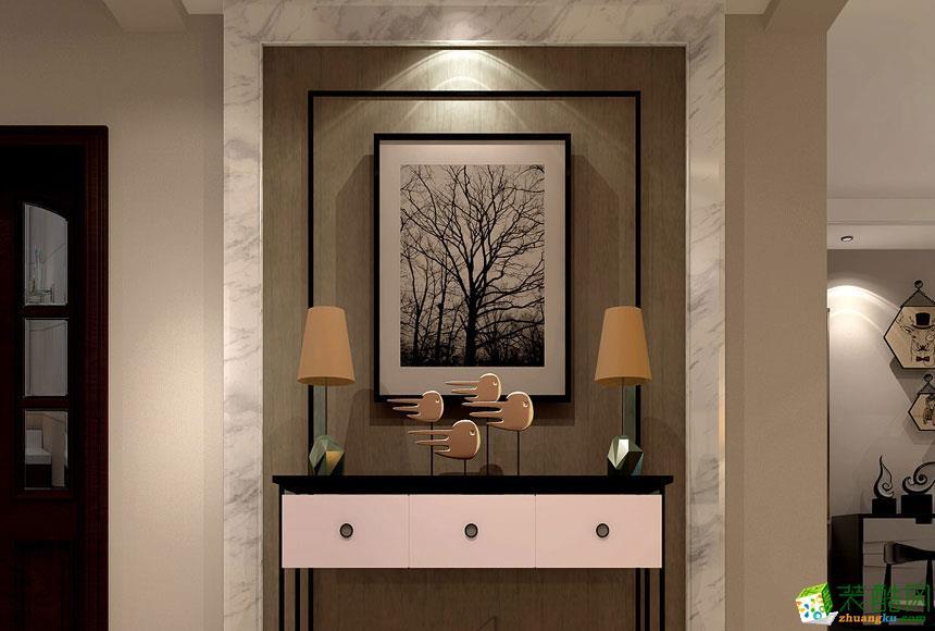 无锡观唐上院装饰-现代简约三室装修效果图