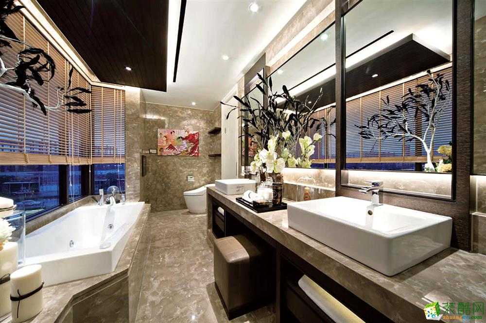 简欧风格163平米三室两厅装修实景案例图赏析--成都装修公司 星艺装饰。