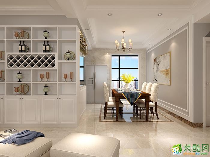 美式风格157平米四室两厅装修实景案例图--金螳螂装饰