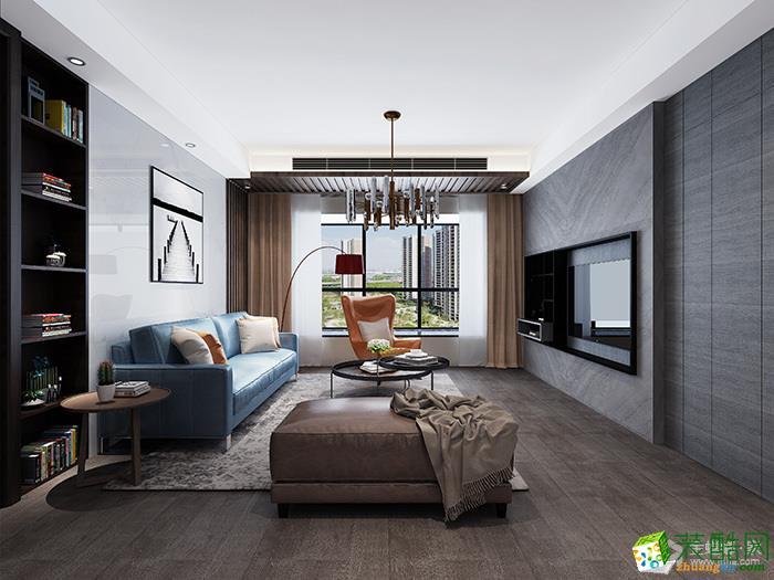 >> 現代簡約風格106平米三室兩廳裝修實景案例圖--金螳螂裝飾
