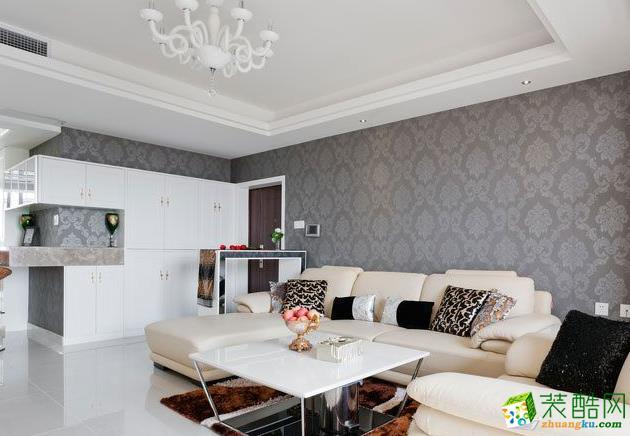 欧式风格126平米三居室装修效果图--远诺装饰