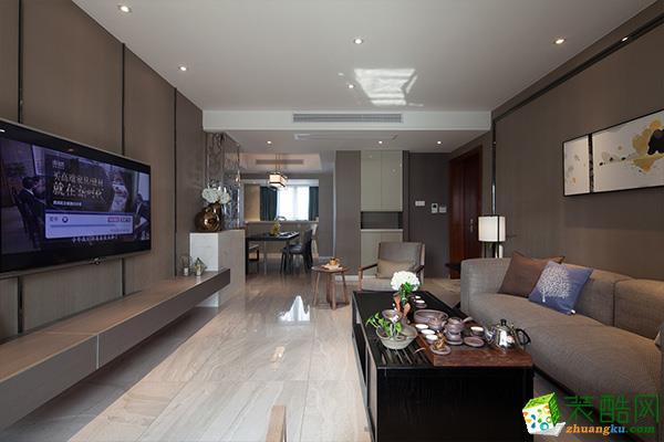 混搭风格86平米三室两厅装修实景案例图--幸福万家装饰