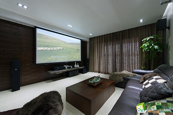 现代简约风格83平米两居室装修实景案例图--水晶石装饰