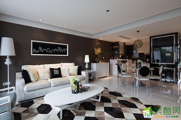70平米混搭风格两室两厅装修实景案例图--友惠万家装饰