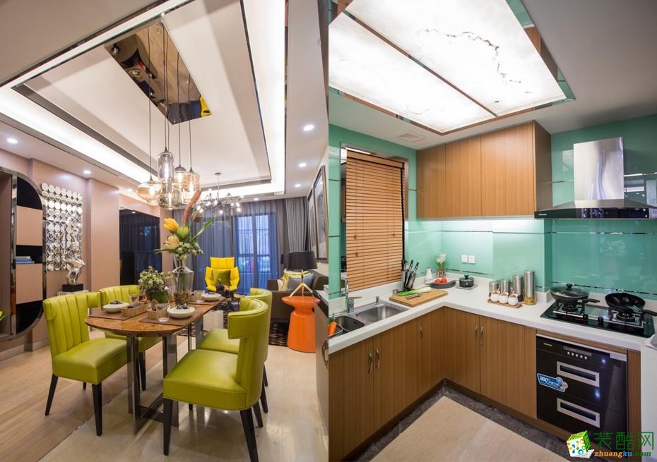 吉杭装饰―85�O现代风格两居室装修效果图