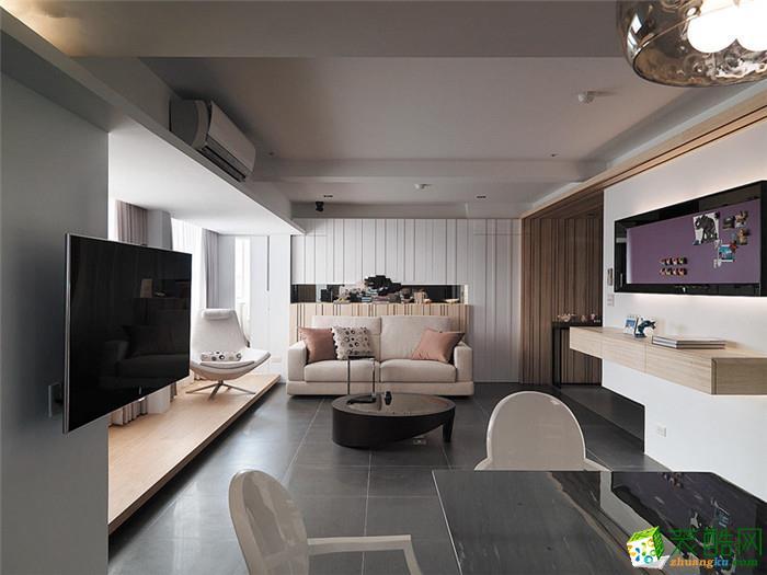 吉杭装饰―71�O简约风格两居室装修效果图