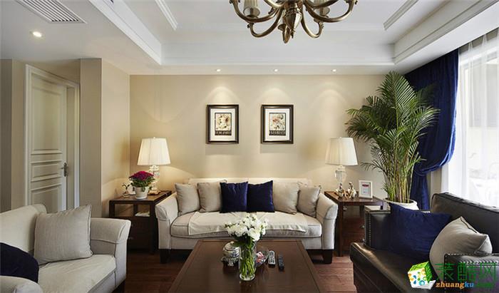 吉杭装饰―109方美式三居室装修效果图