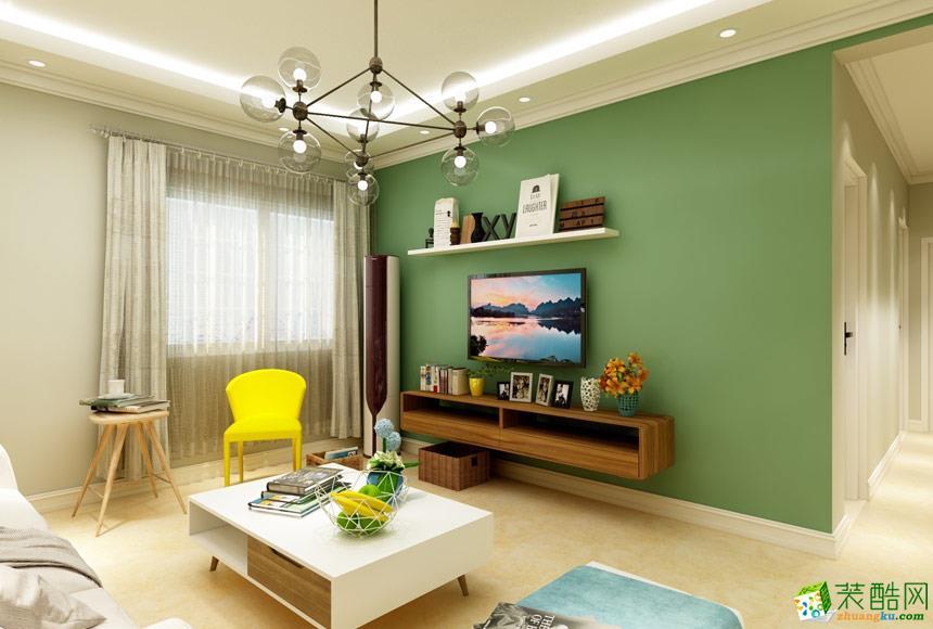延安城市风光装饰-现代简约两居室装修效果图
